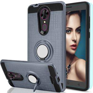 Armadura robusto case para lg stylo 3 max / x5 lg v20 phone case dual layer protetor anel tampa traseira para lg q6 q6 prime q6 além de kickstand casos