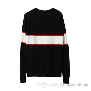 Herbst-Winter-Schwarz Pullover Men Fashion Langarm Brief Drucken Paar Pullover lose Pullover Designer Pullover