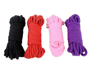 10 Meters Long Thick Strong Cotton Rope Fetish Sex Restraint Bondage Ropes Harness Flirting SM Adult Game Sex Toys for Couples DHL Free
