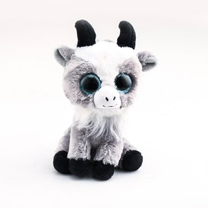 Ty Beanie Boos Big Eyes chèvre 10 - 15cm en peluche Animaux en peluche Jouets Poupées cadeau enfant
