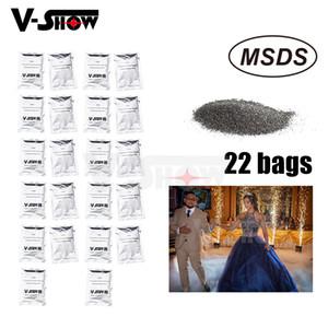 22 Bags Ti Powder 200g bag For Cold Spark Firework Machine Wedding Sparkular Machine MSDS Powder Certification
