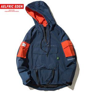 Aelfric Eden Chaquetas con capucha de manga larga para hombre Chaqueta con capucha de otoño Hip Hop Casual Windbreaker Chaqueta de calle Streetwear NC11