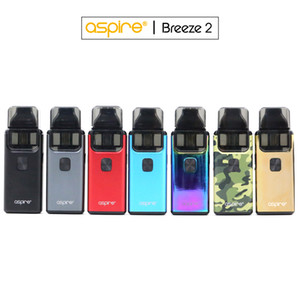 100% Original Aspire Breeze 2 kit (AIO) 3 ml / 2 ml (TPD) Ejuice Capacidade 1000mAh Bateria 1.0ohm 0.6ohm bobina U-Tech Systems / pod recarregáveis
