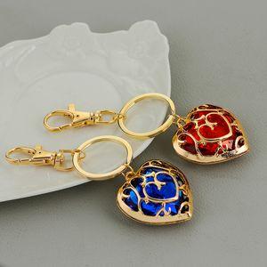 Die Legende von Zelda Skyward Sword Heart Container Schlüsselanhänger blau rot Kristall Cosplay Anhänger Schmuck Schlüsselanhänger
