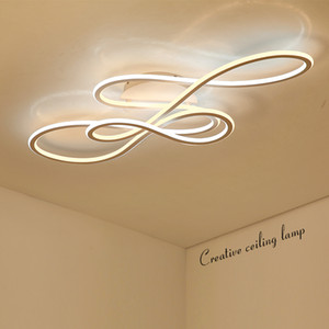 Modern Double Glow led ceiling lights for living room bedroom stair dimming ceiling lights lamp fixtures indoor Lighting