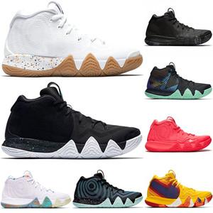 Erkekler Kyrie Irving 4 4 adet Amca Drew Basketbol Ayakkabıları Üçlü Siyah Oreo Kırmızı Halı 70 s 80 s 90 s Moda Erkek Spor Sneakers Boyutu 40-46