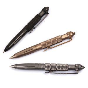 Modische Graue Selbstverteidigung Luftfahrt Aluminium Tactical Survival Pen Tragbare Multifunktionale Camping Werkzeug für sicherheit zubehör