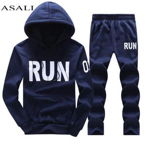 Novos homens fatos de treino outwear hoodies zipper sportwear define camisolas masculinas cardigan homens definir roupas + calças plus size venda quente conjunto