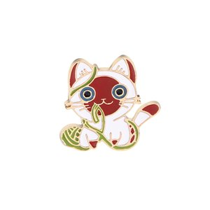 2018 NEW HOT Cute kitty Brooches cat ALLOY Brooch Jacket Denim Shirt Collar Pin Badge Gift For Friend Fashion Jewelry Wholesale