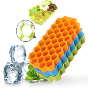 Multi-Color Silicone Ice Cube Tray Freeze Mould Ice Cube Tray ice-making box a nido D'ape Stampo per Bar Partito strumenti T2I274