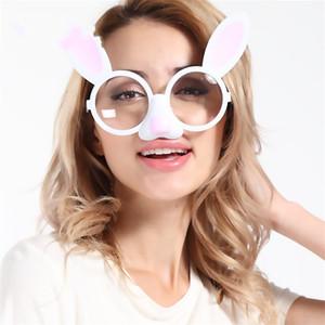 Bonito Páscoa Coelho Óculos Masquerade Bola Prop Criativo Engraçado Óculos de Casamento Decorações Da Festa de Aniversário Nova 9sfd C