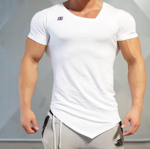 Esporte Moda Vestuário de Fitness T-Shirt Dos Homens de Moda Casual Camisa Musculação TShirt Ginás Roupas de Algodão Tee