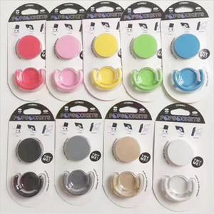 Universal-Handy-Ständer Bunte Auto-Handy-Halter flexible reine Farbe Handy Anti-Fall-Ständer Unterstützung für iPhone 7 8