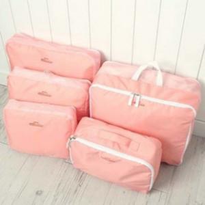 5pcs in un set grande viaggio bagagli Bagagli vestiti Tidy Organizer sacchetto valigia Cosmetiquera Bolso Cosmetic Bag