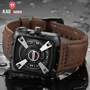 KADEMAN Homens Relógios Top Marca À Prova D 'Água Militar Relógios Esportivos de Couro de Qualidade Banda Moda Masculina Relógios de Pulso Relogio masculino