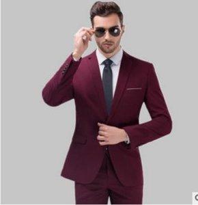 2018 Groom Tuxedos для свадьбы Носите два куска пикированные отворота одна кнопка бизнес выпускных мужчин костюмы куртка брюки