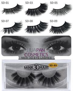 3D Multilayer Mink Lashes Thick Mink Lash Strips Falso Mink pestañas para maquillaje de ojos Fake Eye Lashes pestañas extensión belleza herramienta SD