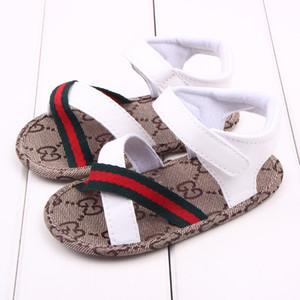 Детская обувь Сандалии летних девочек Мальчики мокасины кожа малыш младенец обувь первых ходунки обувь
