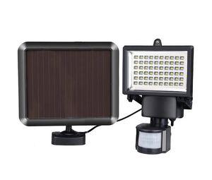 Solares projectores LED levou ao ar livre Jardim Lights 60 100 LEDs PIR Body Motion Sensor Solar luzes de inundação lâmpadas Holofotes luz solar