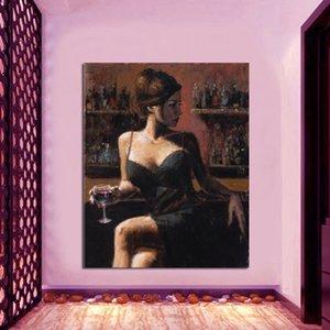 "24x32에 그림을 현대 미술 공예 아니는 ""캔버스 뻗어 : 바 장식 오일 홈 뷰티 Qcjsm."