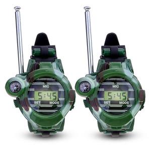 2 pz 7 in 1 walkie talkie watch Camouflage Style Bambini Giocattolo per bambini Bambini Elettrico Strong Clear Range Interphone Bambini Giocattoli interattivi C5459