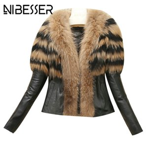 NIBESSER Nuove Donne Cappotti 2017 Autunno Inverno High Street Pelliccia di Faux Colletto Cappotti Faux Leather Warm Jacket Cappotti Outwears