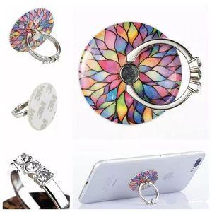 Neue handy ring halterung faul stent handy schnalle metall band diamant fingerring 360 drehen universal handy magnethalter auf schreibtisch