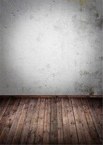 Ретро старинные белые стены фотографии фон темно-коричневый деревянный пол печатные дети дети интерьер фотосессии фоны для студии