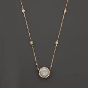 argent or rose or 3 couleur cz station opale collier fine bijoux en argent sterling 925 rond charme géométrique maillon collier chaîne mode