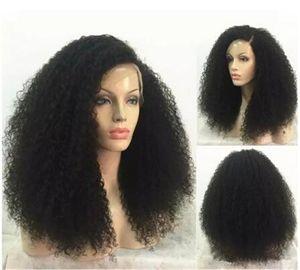 Cheveux Afro Crépus Bouclés Full Lace Perruques De Cheveux Humains Couleur Naturelle Remy Brésilien Pour Les Femmes Noires Avec Des Cheveux De Bébé