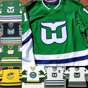Walfords aus dem Jahr 2019 n. Chr. Hartford-Walfänger MIKE LIUT SEAN BURKE RICK LEY JOEL QUENNEVILLE MARK HOWE ULF SAMUELSSON ADAM BURT Eishockey- und CCM-Vintage-Trikot