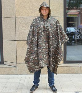 DHL camouflage Rainwear Multifunctional outdoor adult Camo Raincoat Waterproof Rain Coat Men Women Camping Motorcycle Rain nx 100*140cm