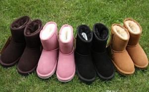 Sıcak satmak Marka Çocuk Ayakkabıları Kız Çizmeler Kış Sıcak Ayak Bileği Toddler Erkek Çizmeler Ayakkabı Çocuk Kar Botları çocuk Peluş Sıcak Ayakkabı