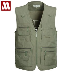 Mesh Vest For Outdoors Mens Multi Pocket Sleeveless Vest Large Size 5XL Man Mesh Quick-dry and Photographer Waistcoat