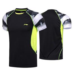 Li Ning мужчины бадминтон спортивная футболка, одежда для соревнований, настольный теннис рубашка, женский настольный теннис Джерси