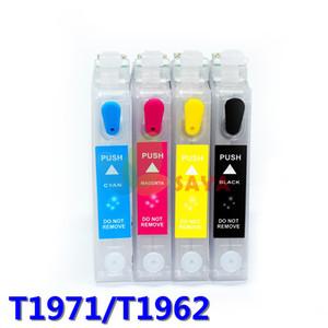 T1971 T1961 Cartucho de tinta recargable para impresoras Epson XP-204 XP-211 XP-214 XP-401 con chips de reinicio automático