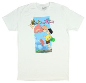 Studio Ghibli Ponyo Sosuke T-Shirt Hommes The Kiss Animation Goldfish