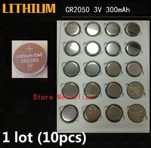 10pcs 1 lote CR2050 3V batería de botón de litio li ion CR 2050 3 voltios li-ion monedas paquete de la bandeja paquete Envío Gratis