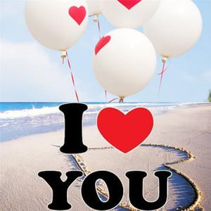 100 шт./лот День Святого Валентина воздушные шары 12 дюймов романтические воздушные шары я люблю тебя сердце свадебные украшения любовь шар праздничные атрибуты