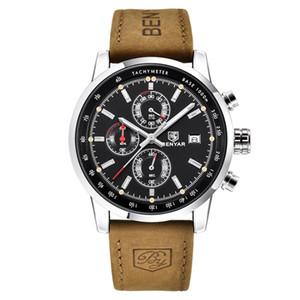 BENYAR 46mm Drei beobachten kleine Zifferblatt Armbanduhr Herrenuhr Quarz-Uhren Großhandel