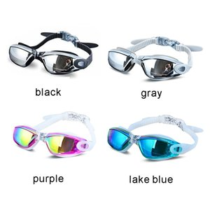 Men Women Anti Fog UV Protection Swimming Goggles Professional Electroplate Waterproof Swim Glasses Color as shown