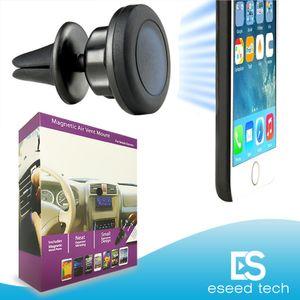 Magnetic cunicolo di ventilazione del supporto del supporto MagGrip 360 Rotazione universali titolari di telefono cellulare testa girevole per iPhone e smartphone Android, GPS