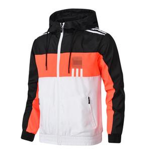 Hommes Hoodeis Rayé Hommes Vestes Designer Coupe-vent Imprimer Mince Manteau Automne Fermeture À Glissière Vestes Running Sportswear L-4XL