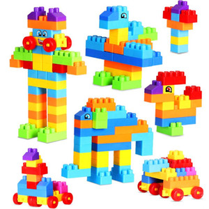 110pcs Mini Baby Construction Set Model & Building Toy Kids Plastic Intelligence Blocks DIY Educational Intellectual Toys Gift