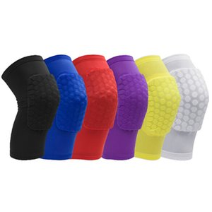 2018 Hot Honeycomb Sports Safety Pallavolo Basket Short Knee Pad Antiurto Calze a compressione Ginocchio Involucri Protezione individuale Confezione