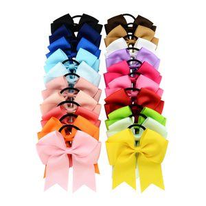 20 pçs / lote 4,5 polegadas de alta qualidade sólida elástica elástica corda faixa de cabelo crianças bandas bow acessório de cabelo 637