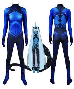 Klaxosaur Princess Darling in Franxx 001 Costume Cosplay 3D Print Lycra Zentai Halloween Catsuit Custom Made Body