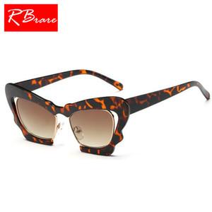 RBRARE 2018 Grande Quadro Cateye Sunglasse Mulheres Lady Óculos Vintage Retro Óculos Lunette De Soleil Femme UV400