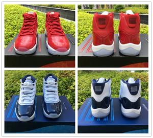 Top Win como 96 82 Zapatillas de baloncesto Hombre Real Fibra de carbono 11s Gimnasio Red Chicago 378037 Midnight Navy Sneaker Tamaño 5.5-13.5