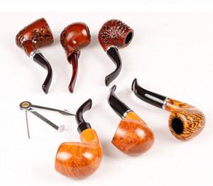 Holz Farbe Holzpfeife Rauchen Pfeifen 16 cm Metall Acryl Material 6 teile / satz Gewähltes Geschenk 4 Arten für Tabacoo Zigarette